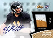 2011 Topps Finest Football Jersey Patch Autograph RC Card