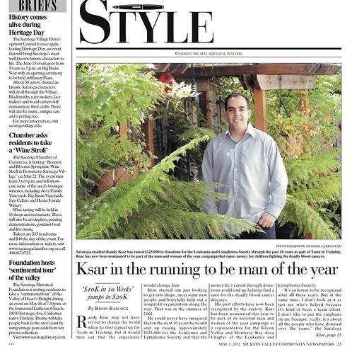 Ksar in the running to be man of the year