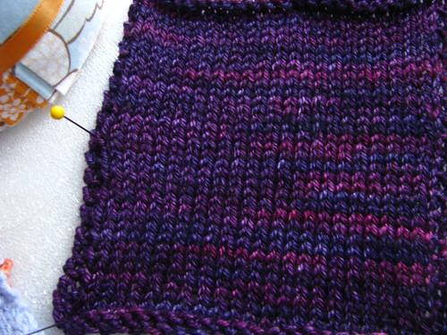 Stargaze Test Knit Swatch 1