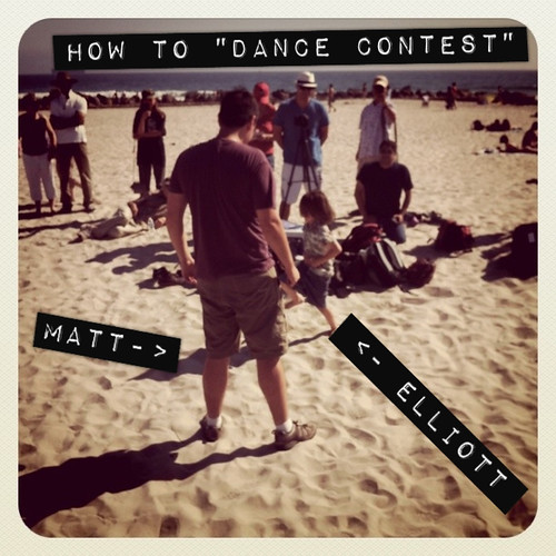 Happy Thing: My Son Teaching Matt From the Internets How to Dance Contest