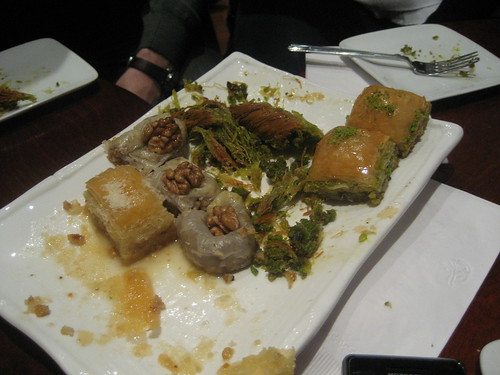 Fuller plate of baklava at Gulluoglu Cafe