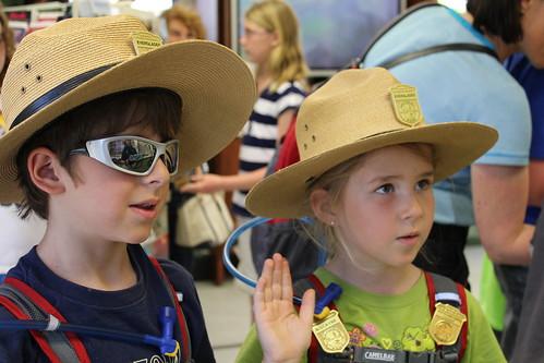 Swearing in Junior Rangers- Everglades NP