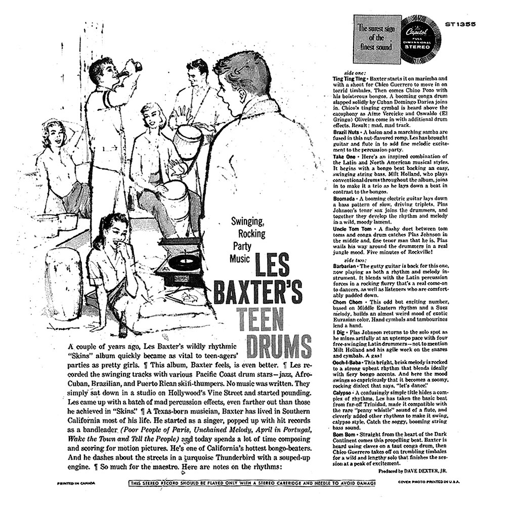 Les Baxter - Teen Drums b