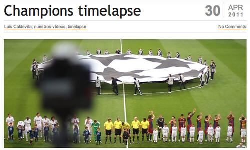 Champions en timelapse