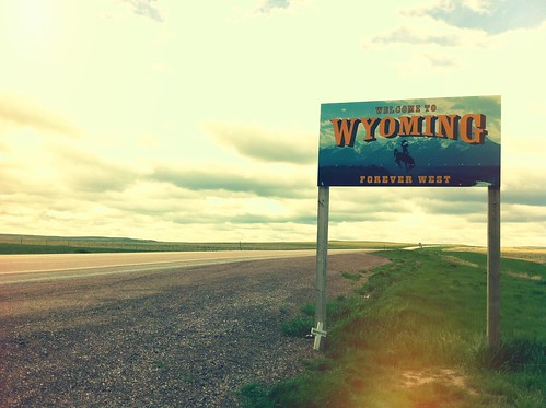 Entering Wyoming....