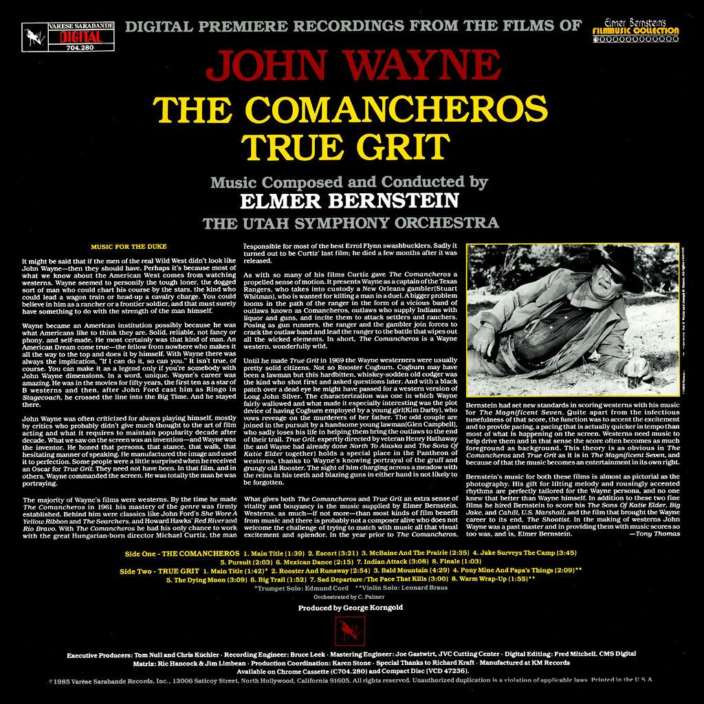 Elmer Bernstein - The Films of John Wayne, Vol.1