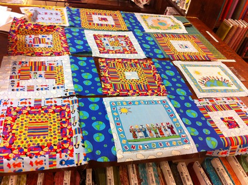 Signe's quilt in progress - adding sashing
