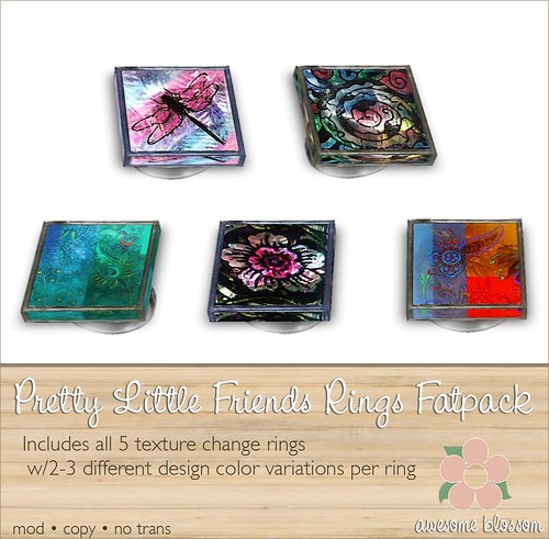 Pretty Little Friends Rings for SBS