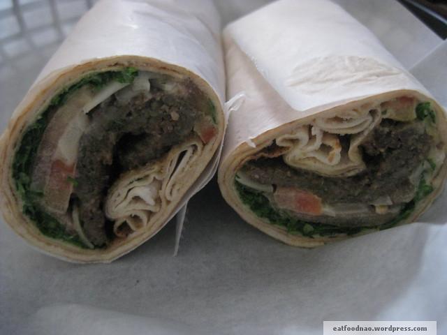 Lamb kabob wrap
