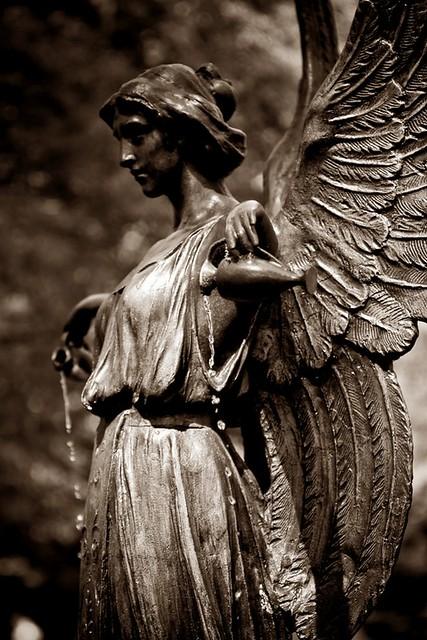 11x14 garden angel dassler effect sepia