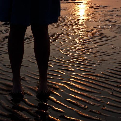girl in the sundown