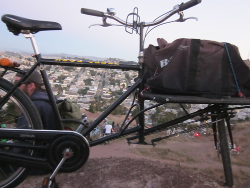 who says cargo bikes can't go up big hills?