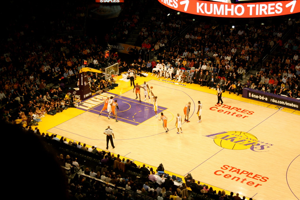Kobe Bryant doing a Free Throw