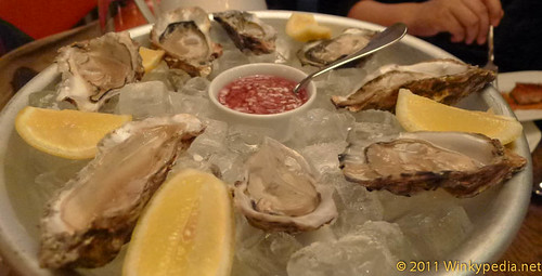 Carlingford Rock Oysters at The Riding House Cafe