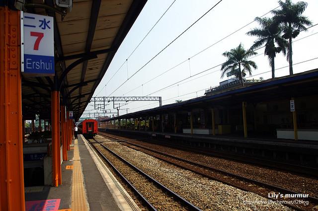 彰化二水車站,在這個車站可以轉搭集集線小火車,但一個小時才一班。