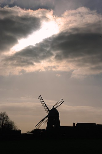 20110306-41_Silhouetted Windmill - Napton on the Hill by gary.hadden