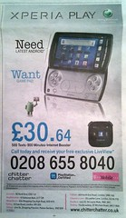 sony xperia play android t-mobile advert
