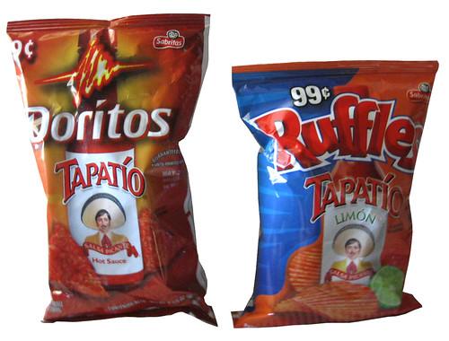 Doritos Tapatio and Ruffles Tapatio Limon