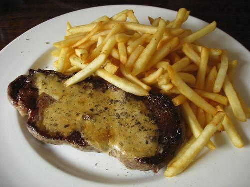 Steak Frite (Sirloin Steak) with Cepe Butter