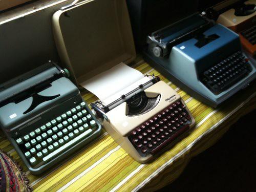 Three typewriters