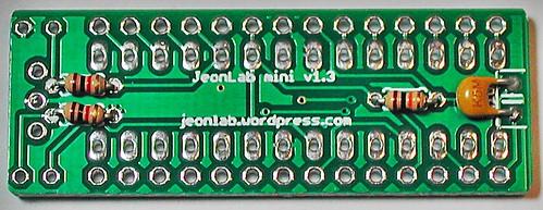 JeonLab mini v1.3 bottom parts soldered