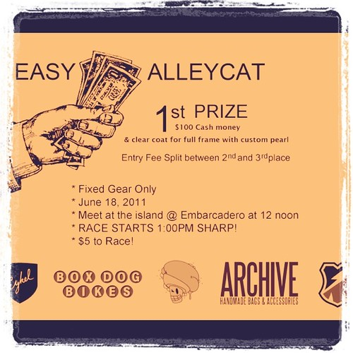 Easy Money Alleycat - June 18 by Archive Victor