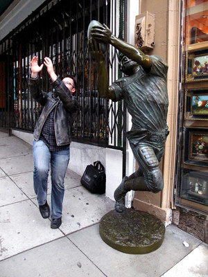 Michael and Statue