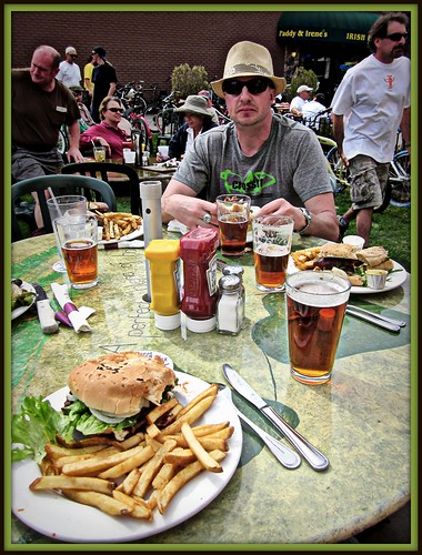 Post Ride Burgers and Brews