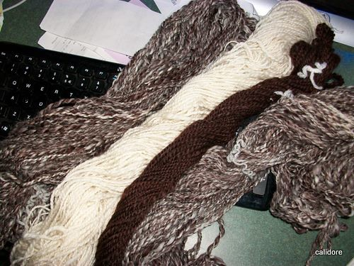 Pure Wool Hand spun and plied