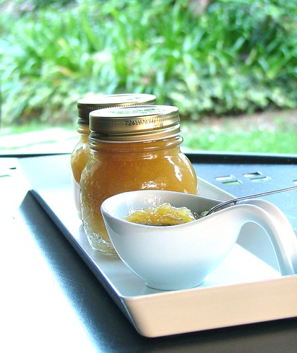 pinapple jam with apples and cardomon