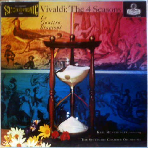 気持ち良く音楽に浸れる古典的名盤☆ミュンヒンガー指揮シュトゥットガルト室内管弦楽団 / ヴィヴァルディ:四季 ミゾ有り、ffssラージラベル