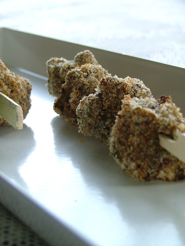 aubergine croquettes with tahini and mint -