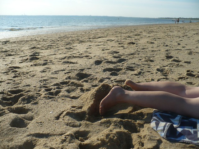 Anna at the beach, Truro, Mass.