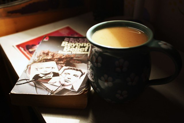 A cup of tea and some child murderers.