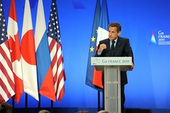Nicolas Sarkozy at the 37th G8 Summit in Deauv...