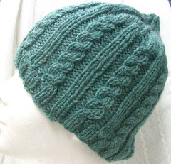 Knitting 104 Cabled Aran Hat