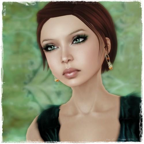 Hatpins - Loopy Coppery Bead earrings