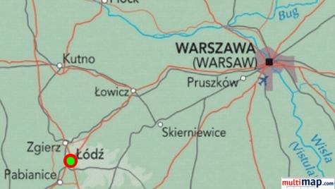 Mappa di Lodz