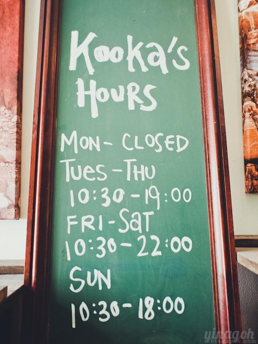 Kooka Cafe Singapore Opening Hours