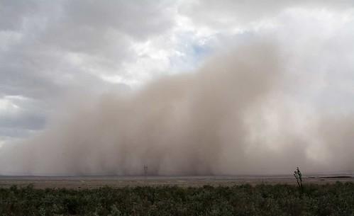 Sand Storm arriving on Turpan