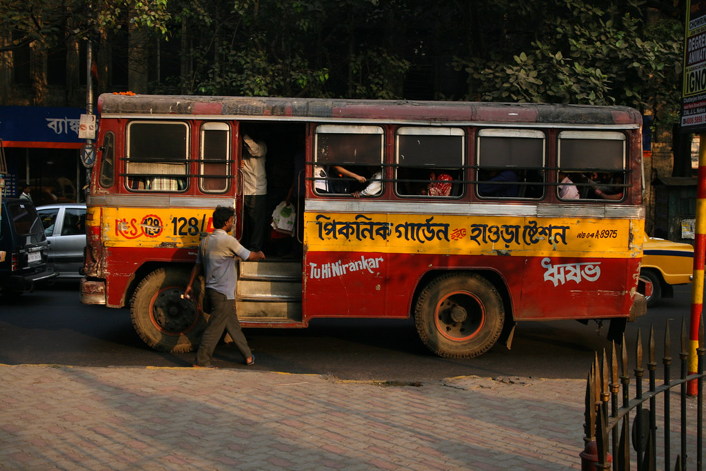 Bus in Calcutta