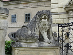 Schloss Greillenstein mythical lion