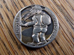 """""""The Wanderer"""" Hobo nickel • <a style=""""font-size:0.8em;"""" href=""""http://www.flickr.com/photos/72528309@N05/9481093520/"""" target=""""_blank"""">View on Flickr</a>"""