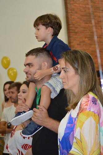 Pedro e os pais, Winie Rezende e Araújo