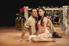 (L to R) Eric Kunze (Lt. Joseph Cable) and Briahna Yee (Liat) in South Pacific, produced by Music Circus at the Wells Fargo Pavilion July 22-27, 2014. Photos by Charr Crail.