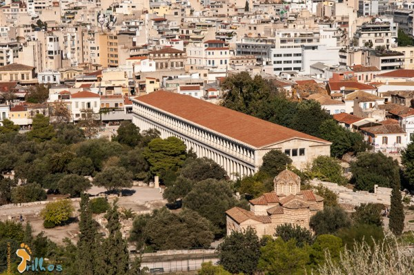 Stoa reconstruída, da Ágora Grega, em Atenas