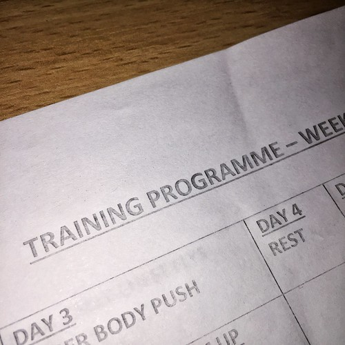 Today is all about...training programme