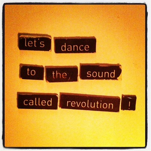 let's dance to the sound called #revolution! #KühlschrankKunst