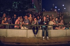 Capturing WaterFire Audience from a Boat