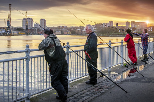Fishing on the Wear, Sunderland